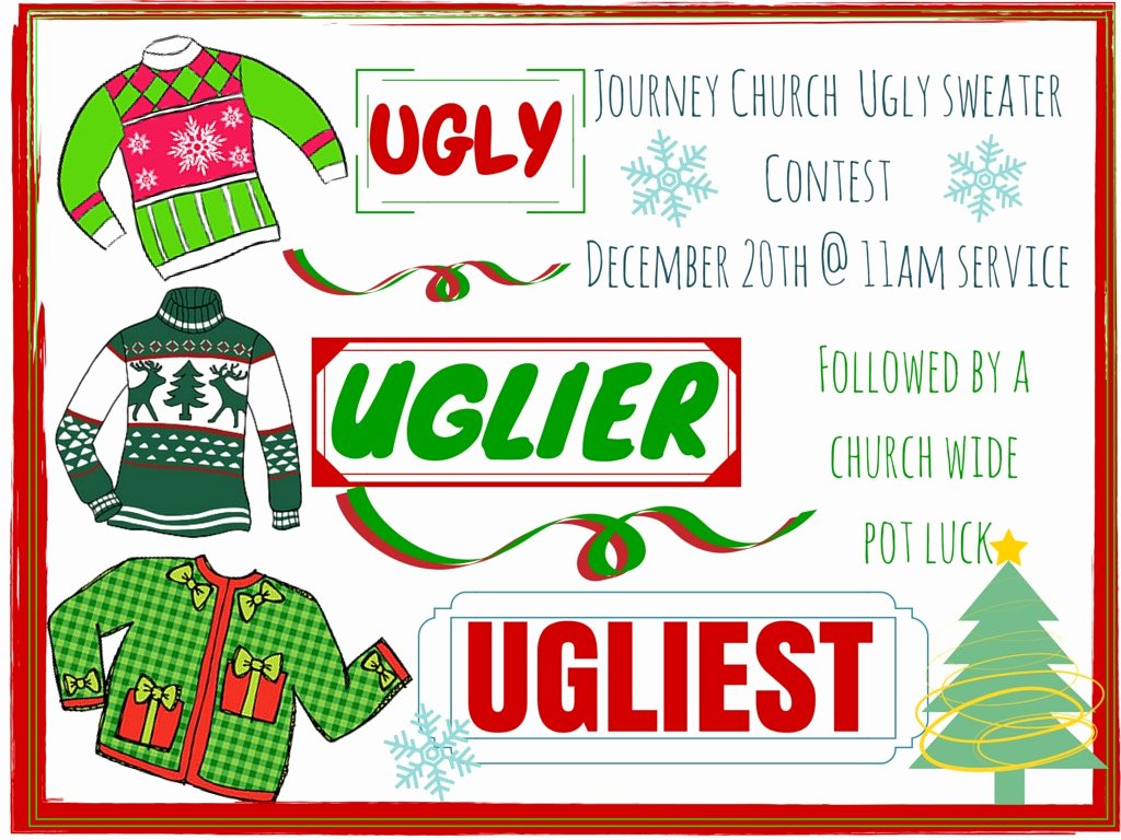 Ugly Sweater Certificate Template Awesome Ugly Sweater Contest and Pot Luck
