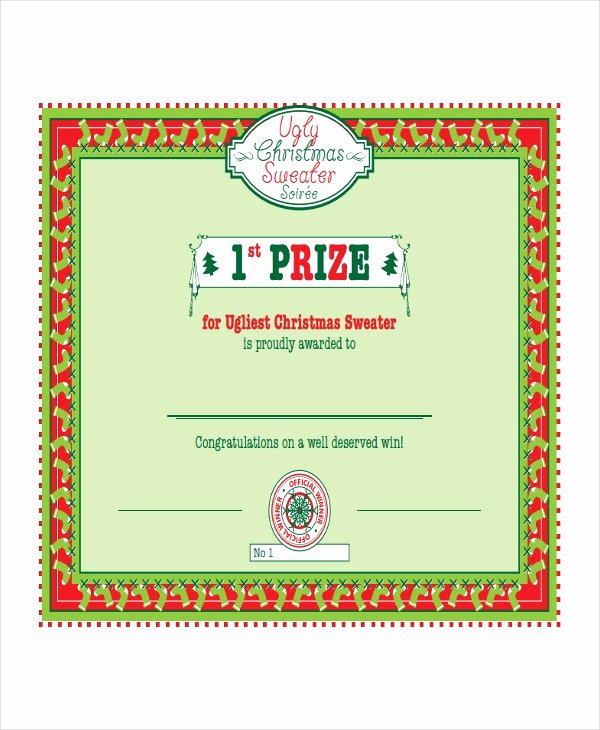 Ugly Sweater Certificate Template Beautiful Winner Certificate Templates 21 Pdf Word Ai Indesign