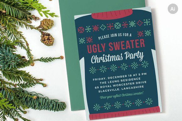 Ugly Sweater Certificate Template Elegant Ugly Christmas Sweater Award Ribbon Template Designtube