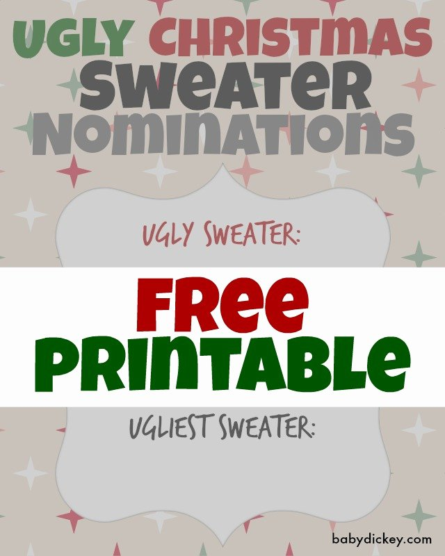 Ugly Sweater Certificate Template Elegant Ugly Christmas Sweater Party Printables & Holiday Bark Recipe