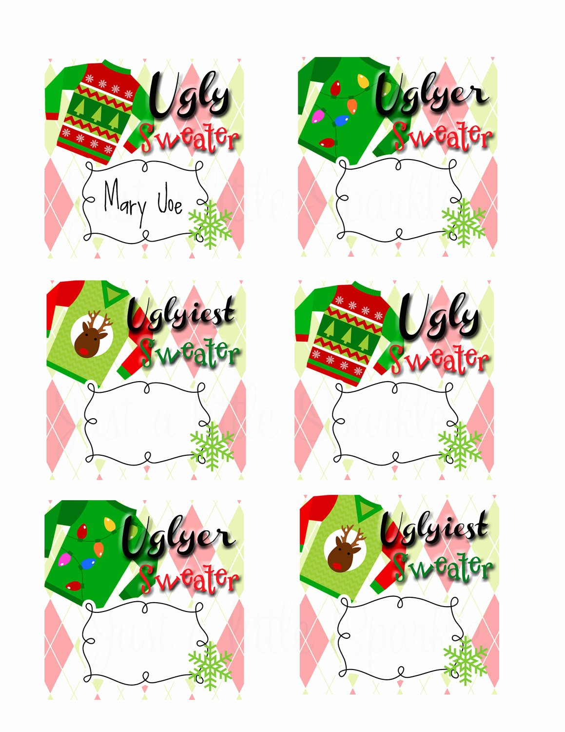 29 images of ugly sweater voting ballot template 3559