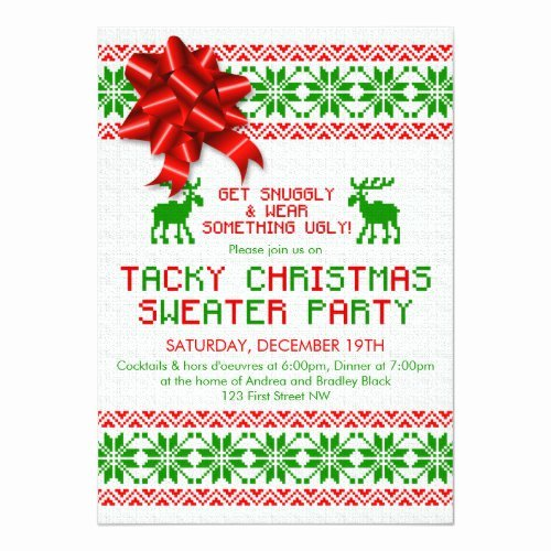 Ugly Sweater Certificate Template New Special events Paperie Trendy Ugly Holiday Sweater Party