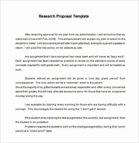 Undergraduate Research Proposal Examples Best Of 16 Research Proposal Templates Doc Pdf Excel