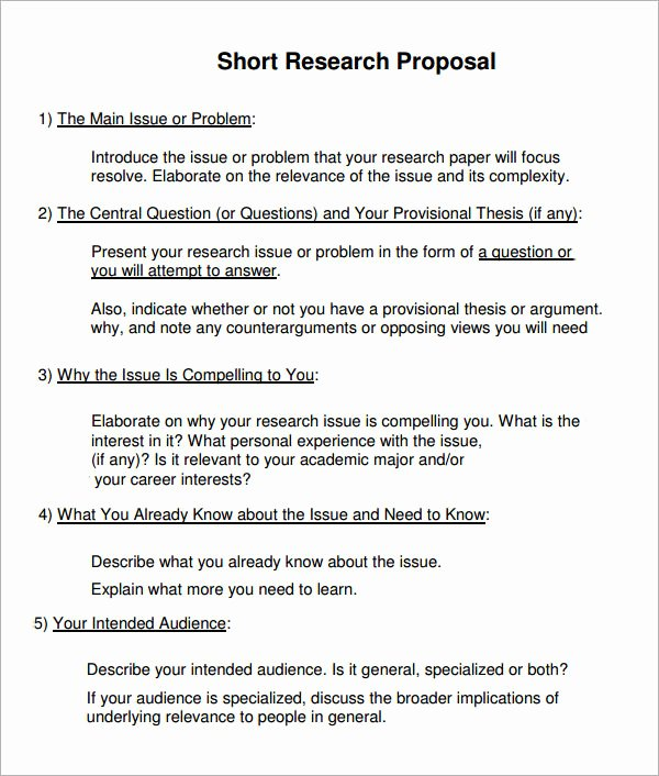 Undergraduate Research Proposal Examples Elegant Sample Research Proposal Template 10 Free Documents