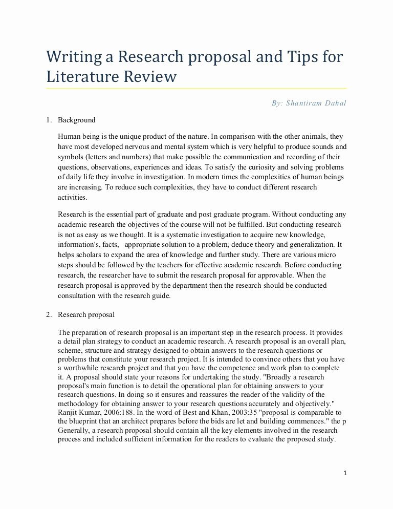Undergraduate Research Proposal Examples Fresh Research Proposal Tips for Writing Literature Review by