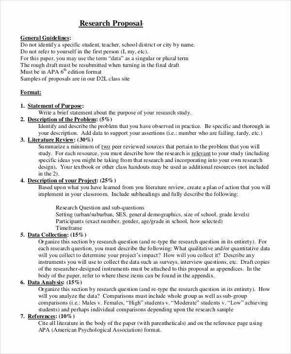 Undergraduate Research Proposal Examples Inspirational Sample Research Proposal 14 Examples In Pdf Word