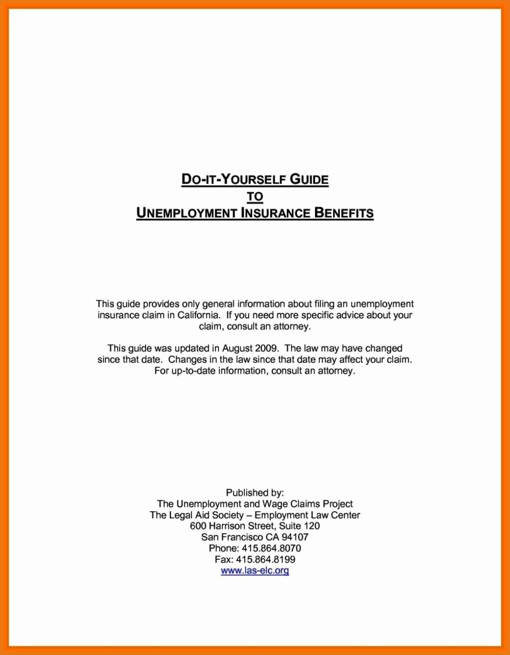 Unemployed Letter Sample New Free Unemployment Appeal Letter Template
