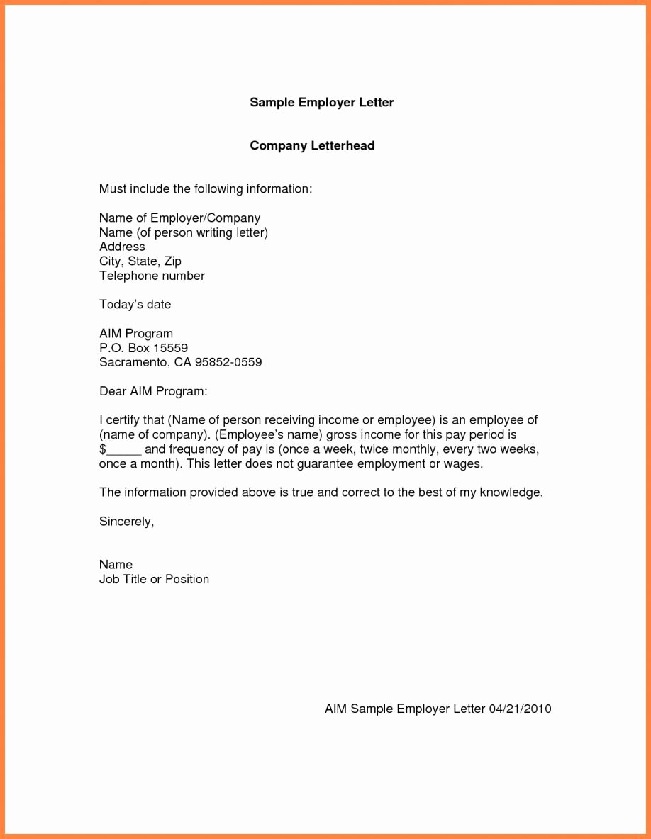 Unemployment Letter Example Inspirational Unemployment Verification Letter Filename Template