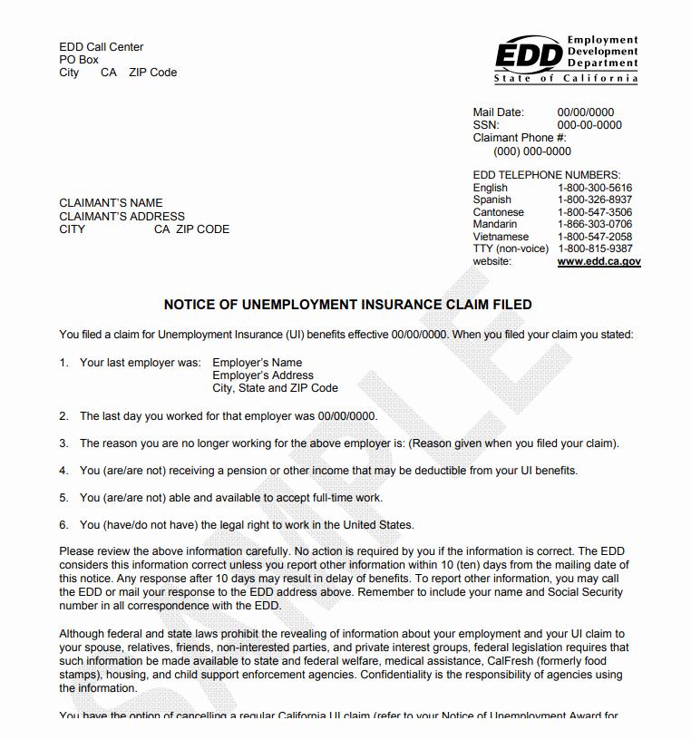 Unemployment Statement Letter Luxury California Unemployment Benefits Laws Crosner Legal