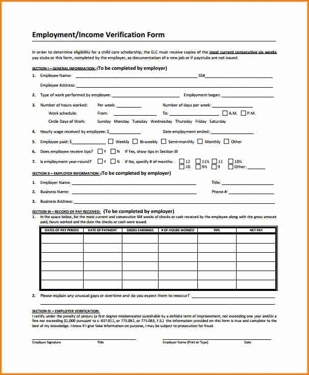 Unemployment Verification form Inspirational 6 Employee Salary Verification
