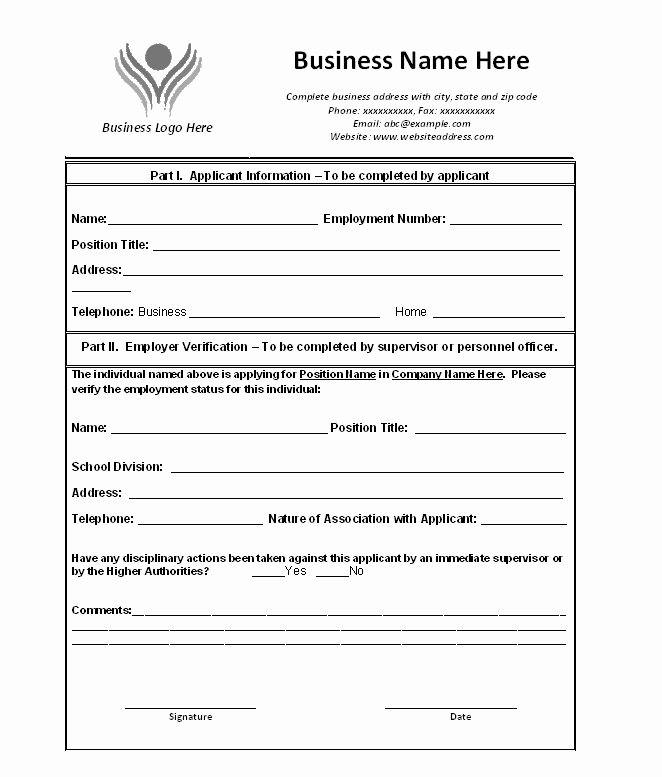 Unemployment Verification form Inspirational Free Proof Of Employment Letter Verification forms