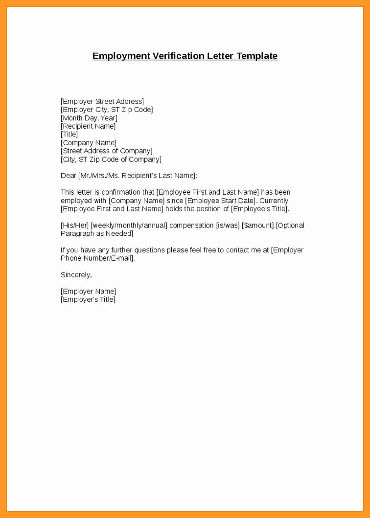 Unemployment Verification Letter Sample Awesome 9 10 Letter Unemployment Verification