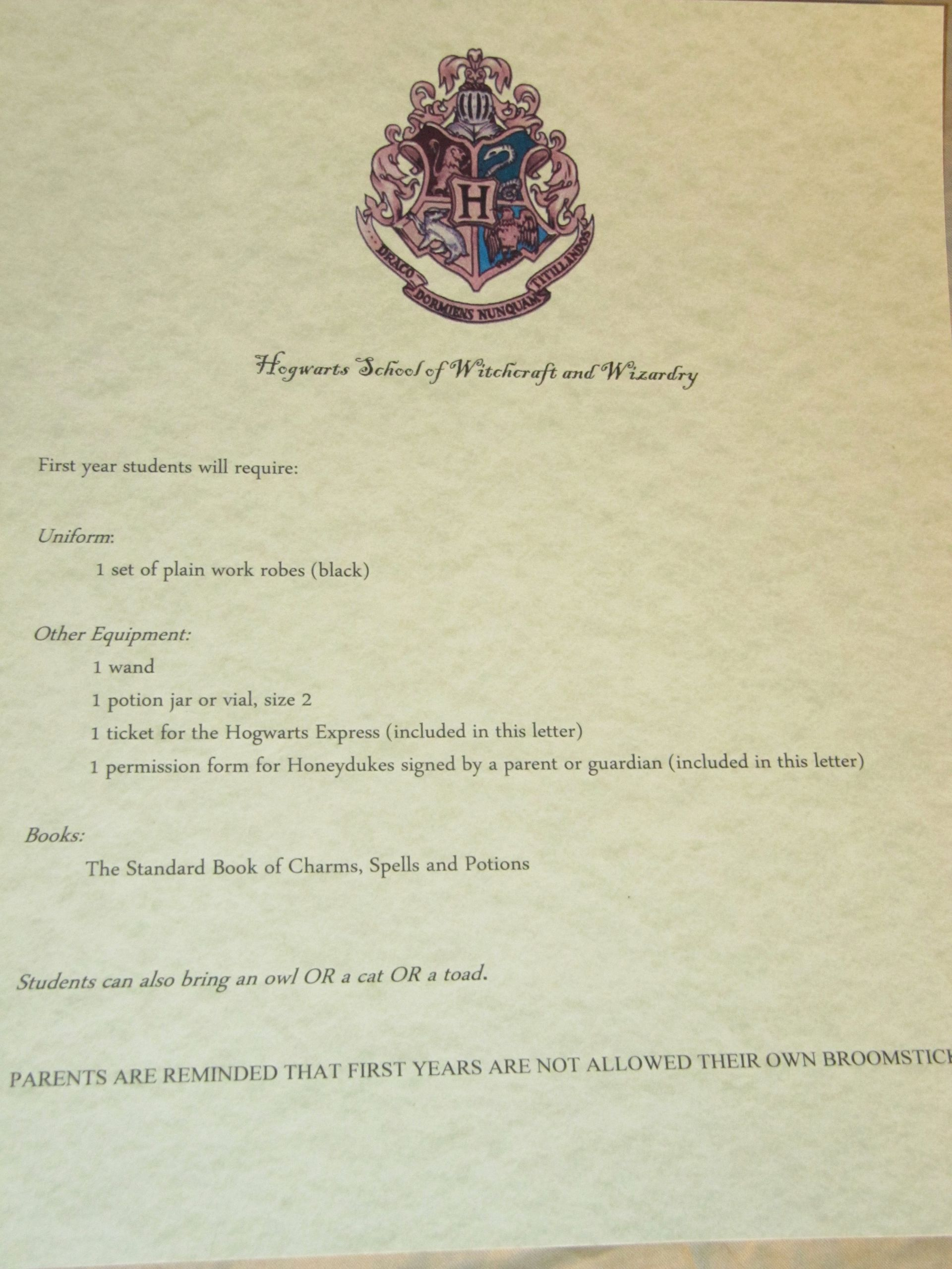 Uniform Certificate Of attendance Best Of Harry Potter Party Planning – Part 1 Invitations
