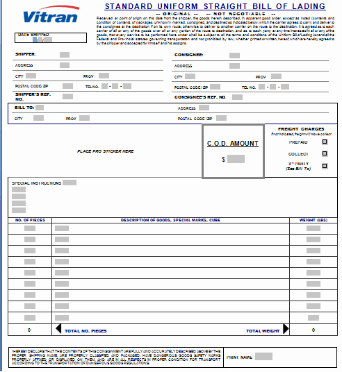 Ups Straight Bill Of Lading Awesome 21 Free Bill Of Lading Template Word Excel formats