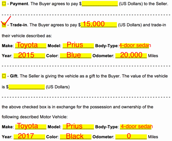 Utah Automobile Bill Of Sale New Free Bill Of Sale forms Pdf Word