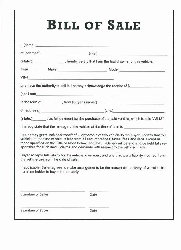 Utah Bill Of Sale Automobile Fresh Download Bill Sale form Pdf