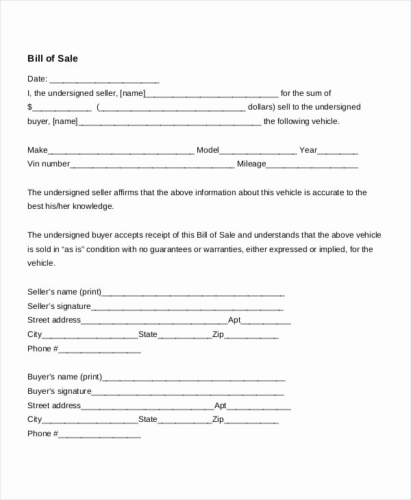 Utah Bill Of Sale Automobile New Bill Sale form 18 Free Word Pdf Documents Download