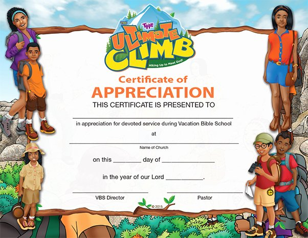 Vacation Bible School Certificate Of Completion Best Of Vbs the Faith Run Starter Kit