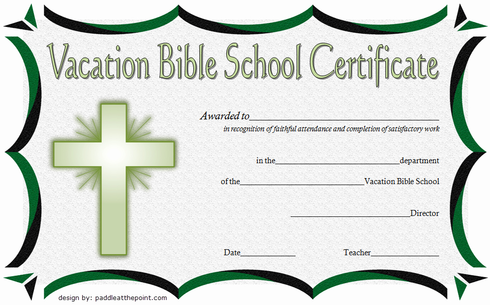 Vacation Bible School Certificate Of Completion Elegant Printable Vbs Certificates Free top 10 Template Ideas