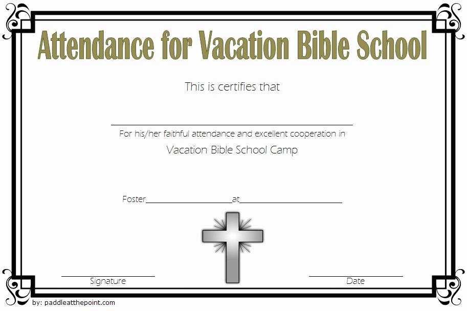 Vacation Bible School Certificate Of Completion Fresh Printable Vbs Certificates Free top 10 Template Ideas