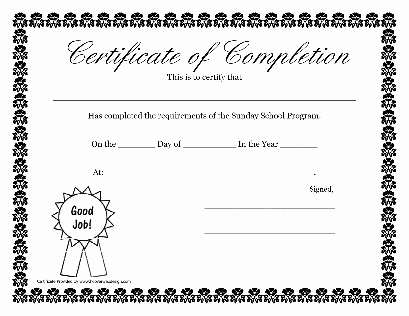 Vacation Bible School Certificate Of Completion Luxury Sunday School Promotion Day Certificates