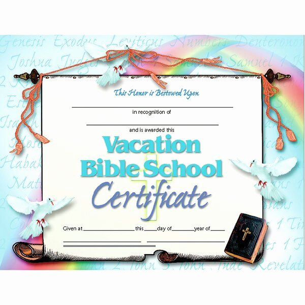 Vacation Bible School Certificate Templates Inspirational Hayes School Publishing Vacation Bible School Certificate