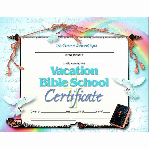 Vacation Bible School Certificate Templates Inspirational Hayes School Publishing Vacation Bible School Certificate
