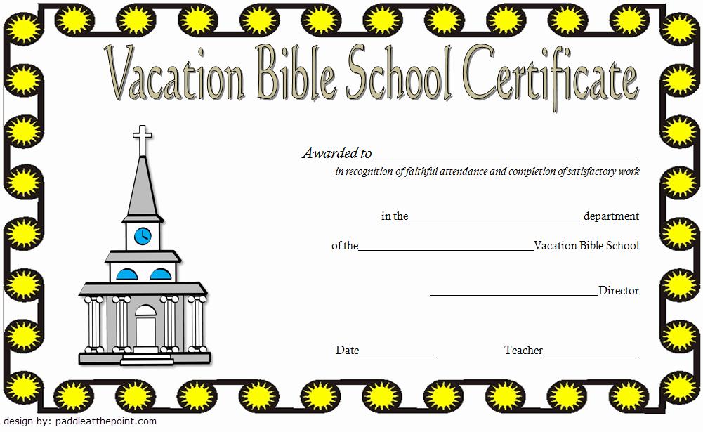 Vacation Bible School Certificate Templates Luxury Vbs Certificate Template 8 Latest Designs Free Download