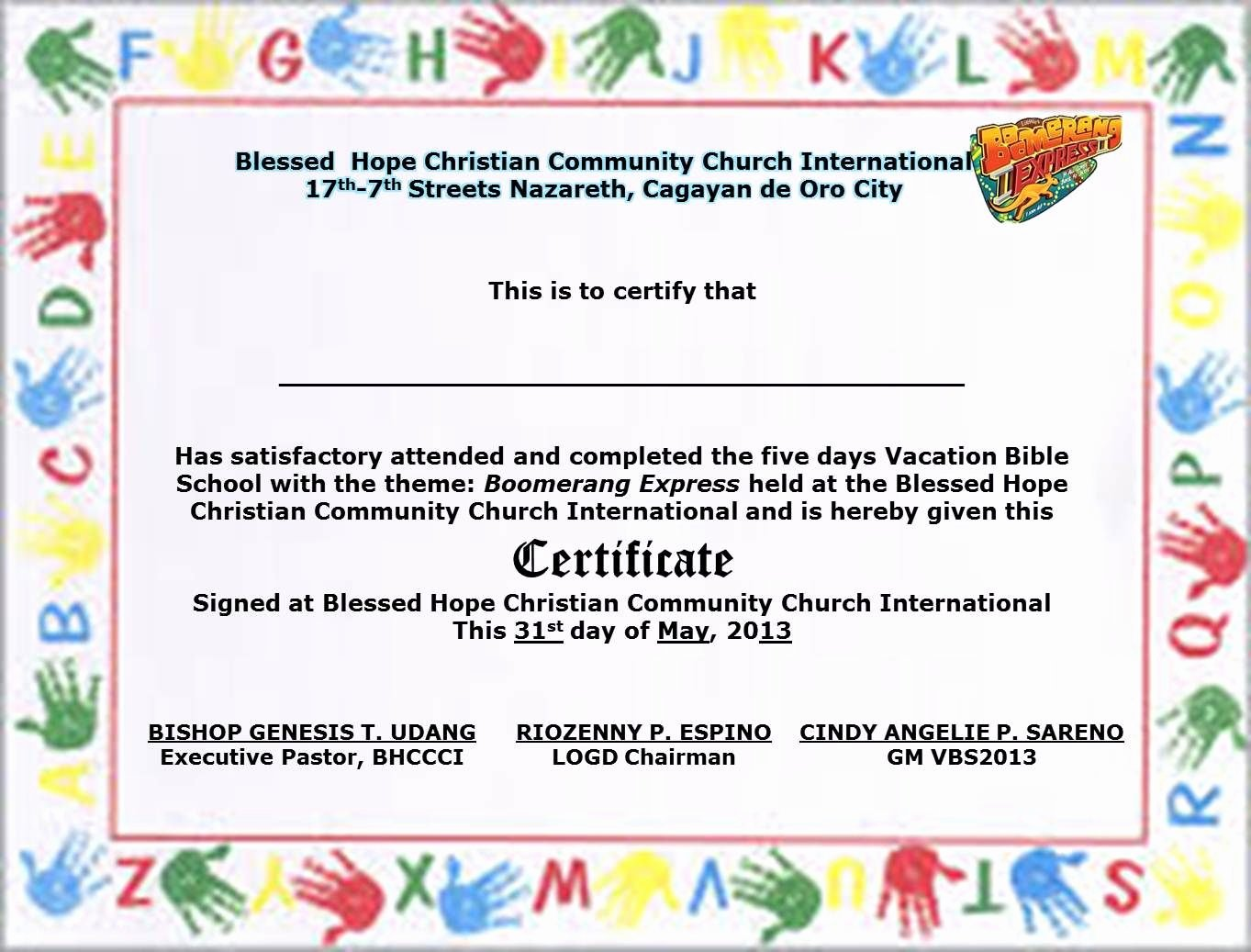 Vacation Bible School Certificate Templates New School Certificate Samples Sign In Sheets for Employees