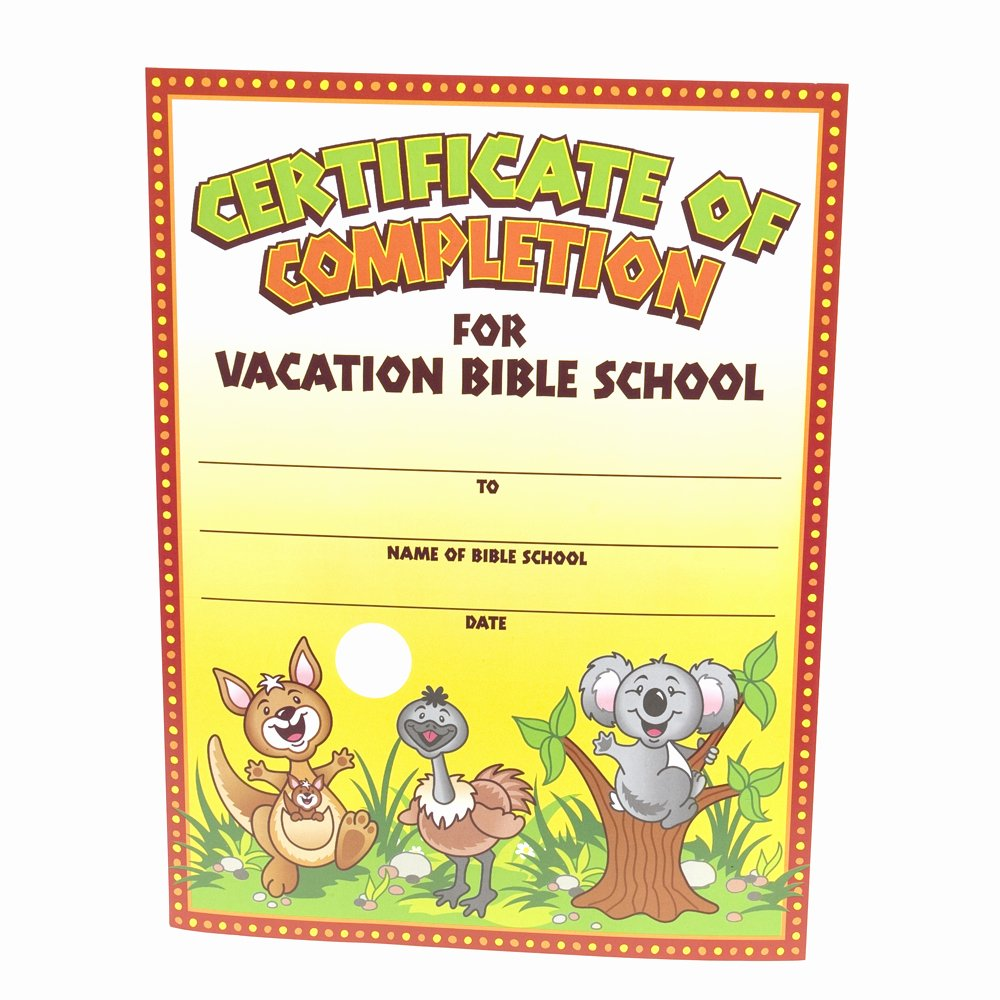 Vacation Bible School Certificate Templates Unique Other Printable Gallery Category Page 214