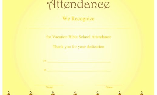 Vacation Bible School Certificates Printable Beautiful A Printable Certificate Recognizing Vacation Bible School
