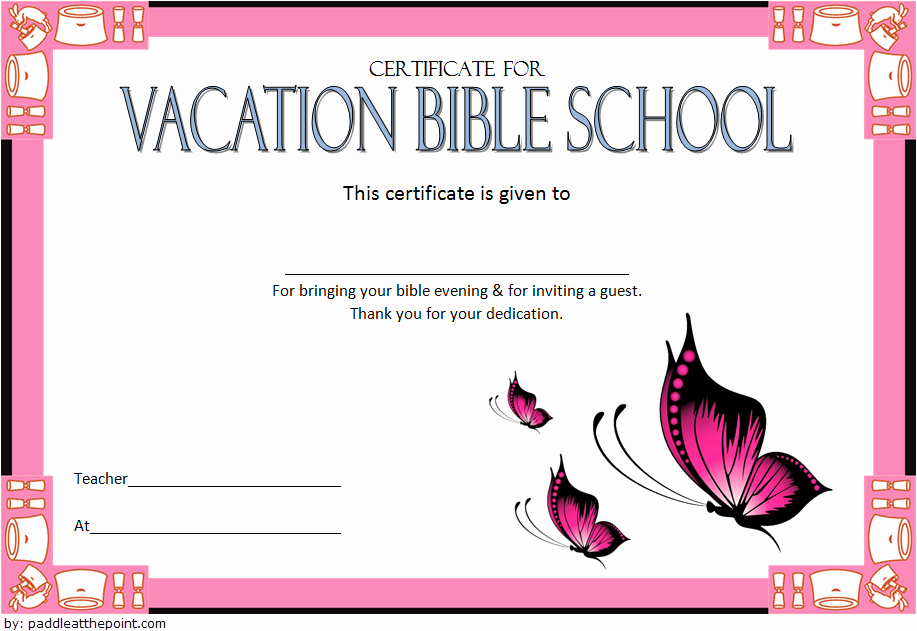 Vacation Bible School Certificates Printable Fresh Printable Vbs Certificates Free top 10 Template Ideas