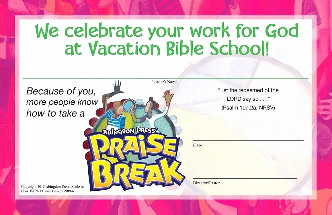 Vacation Bible School Certificates Printable New Image Result for Vbs Certificate 2018 Free Templates