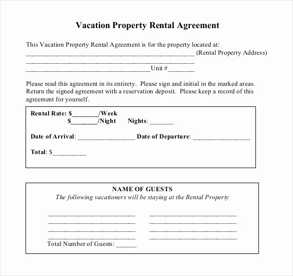 Vacation Rental Business Plan Template Fresh Rental Agreement Template – 21 Free Word Pdf Documents