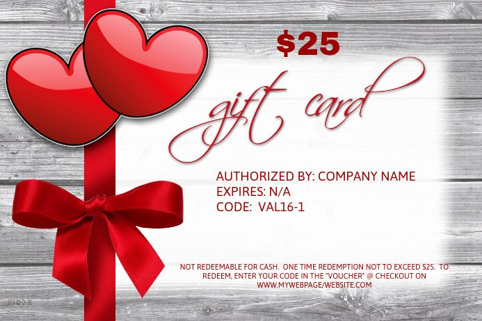 Valentine Gift Certificate Template Best Of Valentine S Gift Card Template