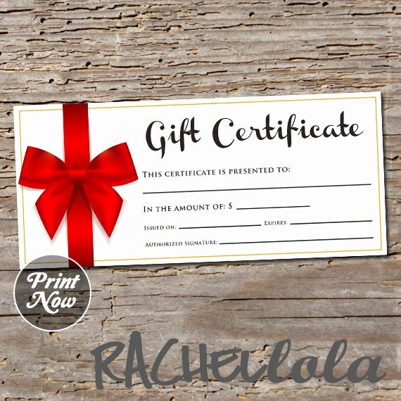 Valentine Gift Certificate Template Free Awesome Red Bow Printable Gift Certificate Template Valentine S