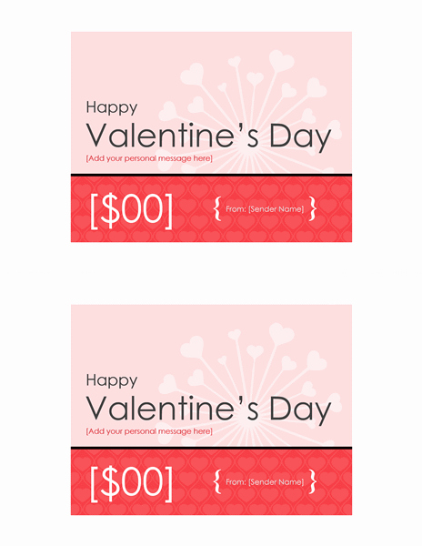 Valentine Gift Certificate Template Free Fresh Download Gift Certificate Template Free for Microsoft