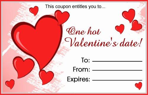 Valentine Gift Certificate Template Free New Love Coupons Coupons Khyati Kothari Diy