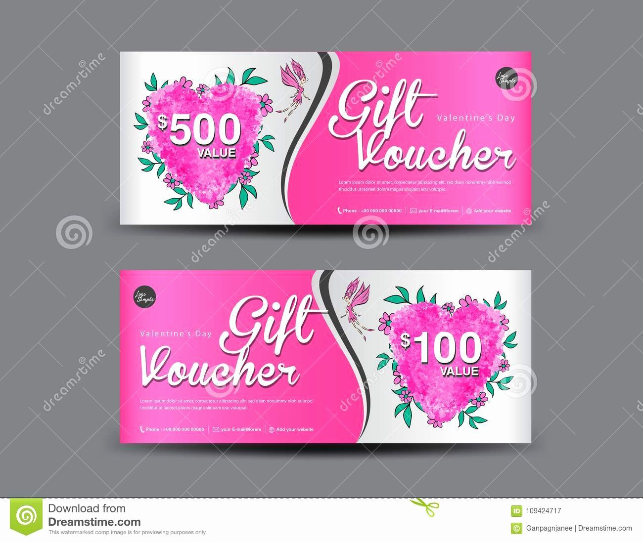 Valentine Gift Certificate Template Inspirational Valentine S Day Gift Voucher Template Layout Business