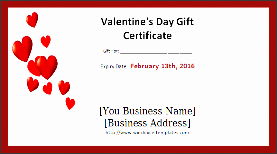 Valentine Gift Certificate Template Lovely 8 Gift Certificate Template In Word Sampletemplatess
