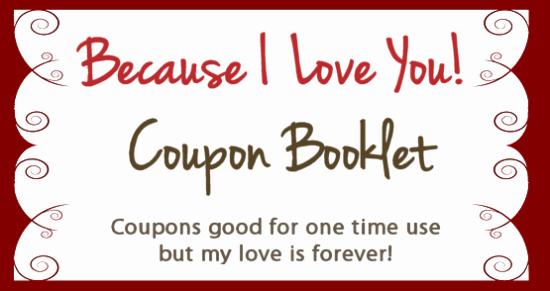 Valentine Gift Certificate Template Lovely Create Your Own Valentines Coupon Booklet for Free