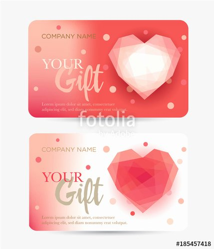 "Valentine Gift Certificate Template Lovely ""gift Card for Valentine S Day Gift Certificate for A"