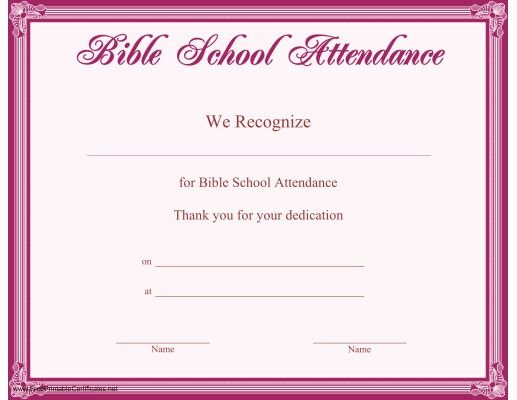 Vbs Certificate Of attendance Awesome This Printable Certificate Bordered In Purple Recognizes