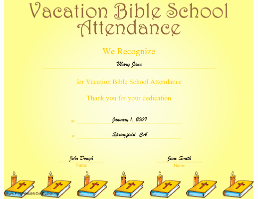 Vbs Certificate Of attendance Best Of Printable Vacation Bible School Certificates Vbs Carla