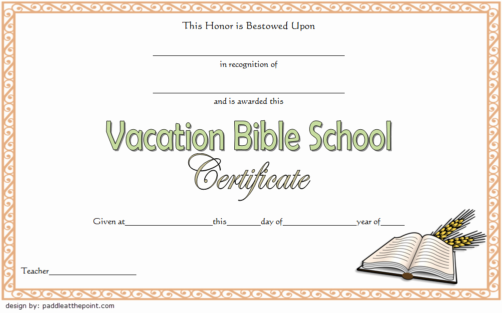 Vbs Certificate Of attendance Best Of Printable Vbs Certificates Free top 10 Template Ideas