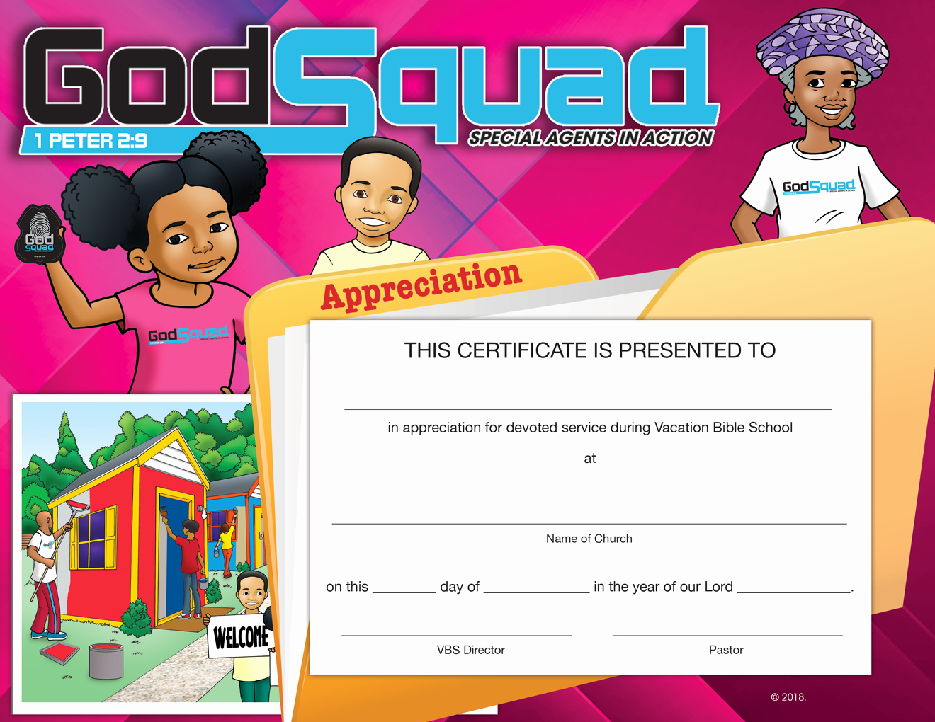 Vbs Certificate Of attendance Best Of Vbs Godsquad Certificate Of Perfect attendance