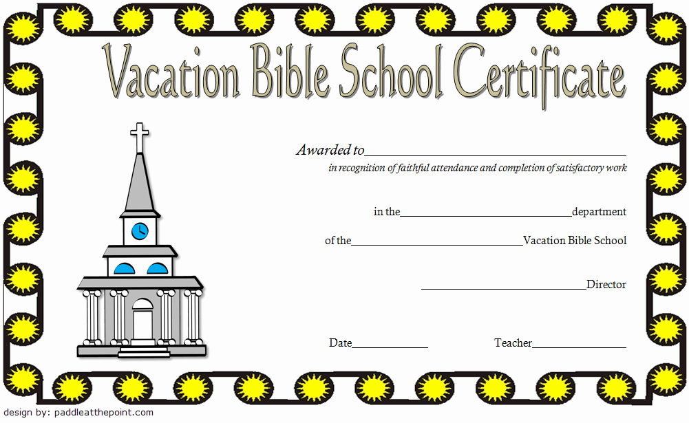 Vbs Certificate Of attendance New Vbs Certificate Template 8 Latest Designs Free Download