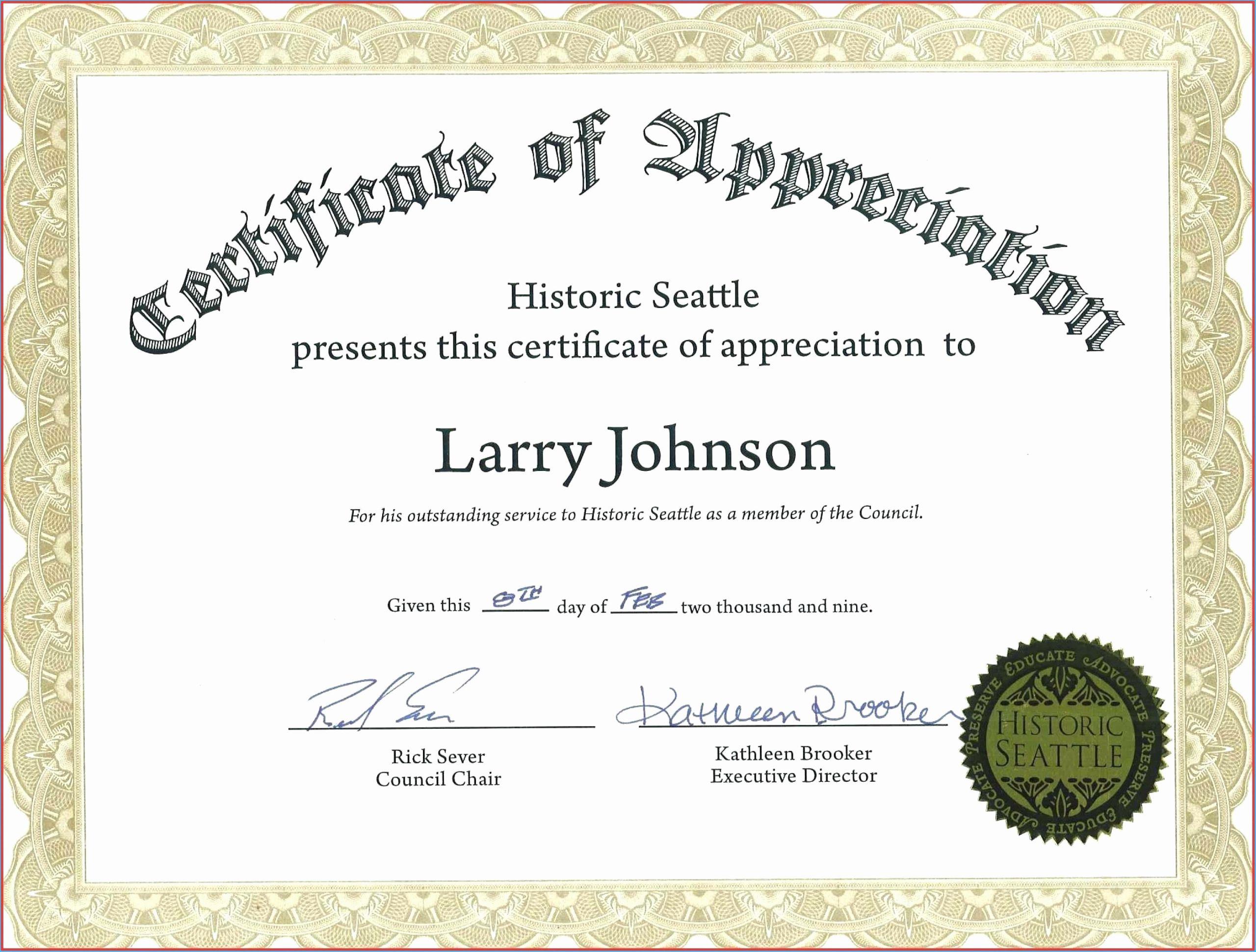 Veteran Appreciation Certificate Template Fresh Veterans Appreciation Certificate Template