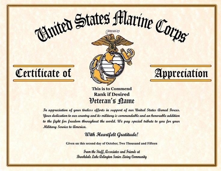 Veteran Appreciation Certificate Template Lovely 7 Best Veterans Day Images On Pinterest
