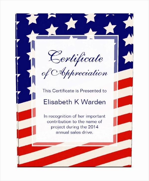 Veteran Appreciation Certificate Template Lovely Veterans Day Certificate Appreciation Template